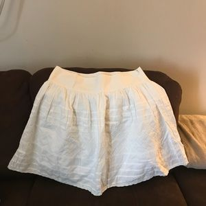 White skirt with patterns